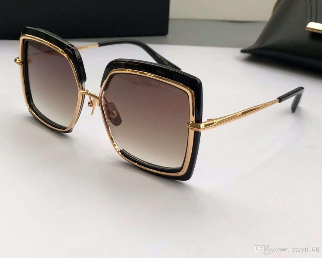 Compre Mulheres Quadrado NARCISSUS Óculos De Sol Dourado   Marrom Sombreado  Sonnenbrille Occhiali Da Sola Designer De Luxo Óculos De Sol Óculos Marca  Com ... 57d10f79ab