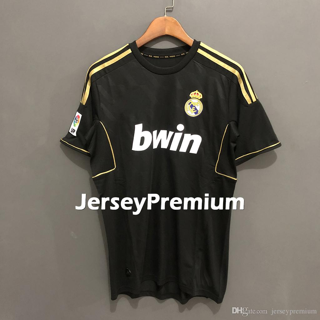 various colors 375e5 17709 Real Madrid Retro 2011-2012 Home Away 3rd Football Soccer Jerseys White  Black Red Shirts Ronaldo Sergio Ramos Kroos Benzema Modric Marcelo