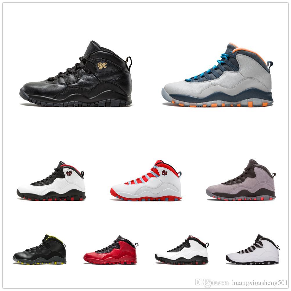 timeless design aed54 8758c Acheter Nouveau Tinker Westbrook 10 Chaussures De Basket Ball Ciment Je  Suis De Retour 10s Hommes Sport Rétro Sneakers Chicago Bobcats Racer Bleu  Taille 7 ...