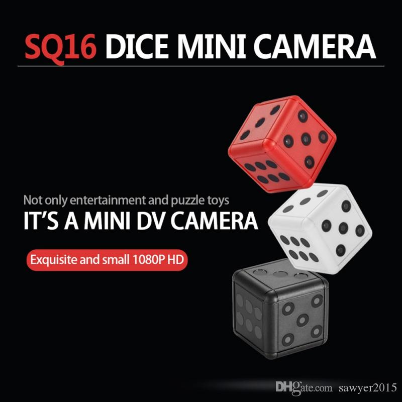 SQ16 Dice sports DV camera HD 1080P Dice Mini Camera Motion detection DVR Camera Digital voice video recorder support TF card