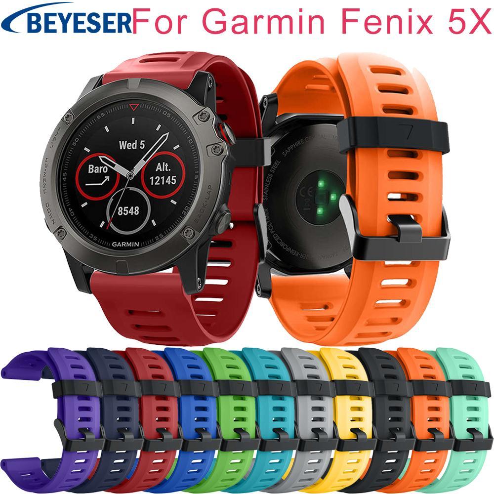 Sport Watch Strap For Garmin Fenix 5x Fenix5x Plus Band Silicone