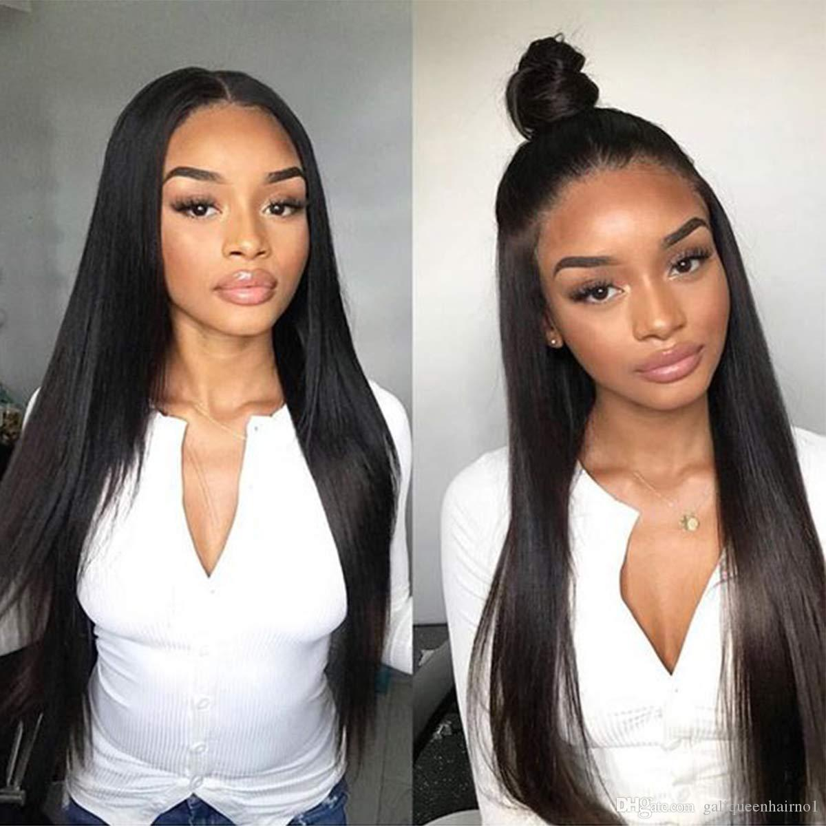 Silky Straight Lace Front Wig Brazilian Virgin