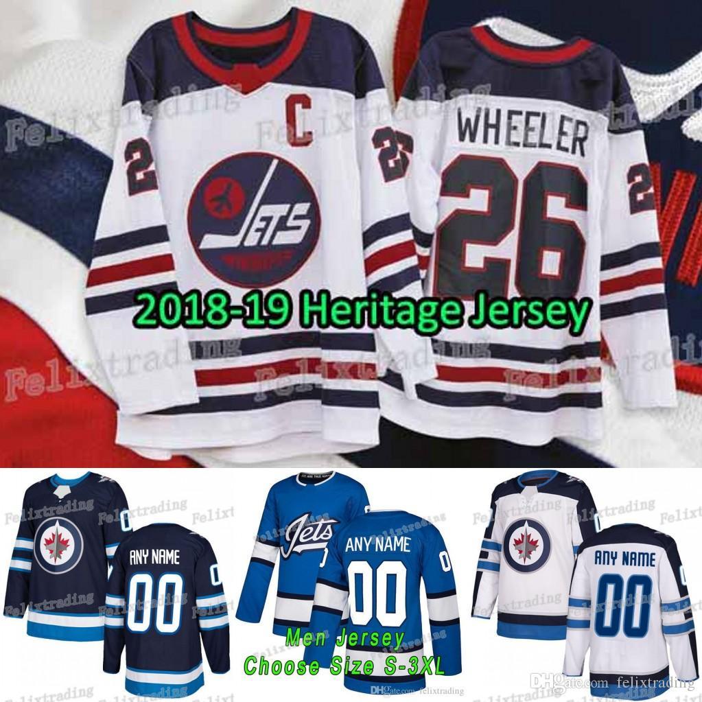 Großhandel Heritage Winnipeg Jets Blake Wheeler Mark Scheifele Patrik Laine  Connor Und Hellebuyck Dustin Ben Chiarot Von Adam Lowry Von Felixtrading e97861f09