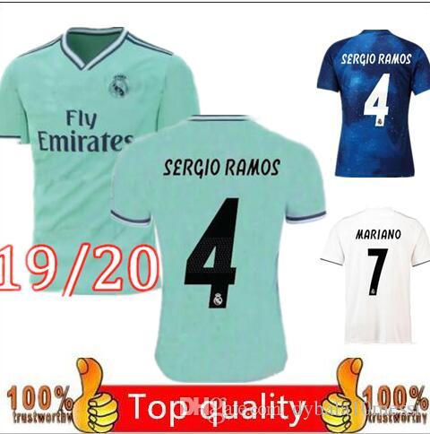 new products 138e2 14594 S-2XL Green away jerseys Real madrid 2019 2020 soccer jersey MARIANO  ASENSIO VINICIUS JR football shirt 18/19/20 BALE RAMOS Camiseta