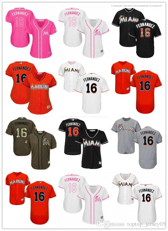 great fit 0f625 c053f 2018 top Miami Marlins Jerseys #16 Jose Fernandez Jerseys  men#WOMEN#YOUTH#Men's Baseball Jersey Majestic Stitched Professional  sportswear