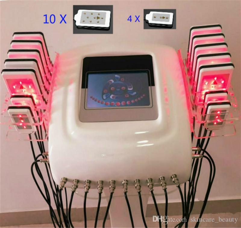 Effective Lipo Laser LipoLaser Slimming Equipment Fast Fat Burning Remover Body shaping zerona laser weight loss machine (14pcs paddles)