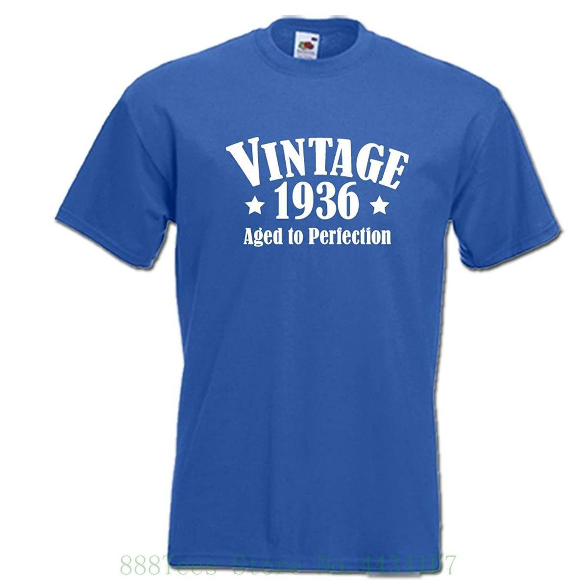 Vintage 1936 Aged To Perfection 80th Birthday 80 Years Classic Funny Mens Womens Unisex T Shirt Print Men Buy Shirts Online From Jie11