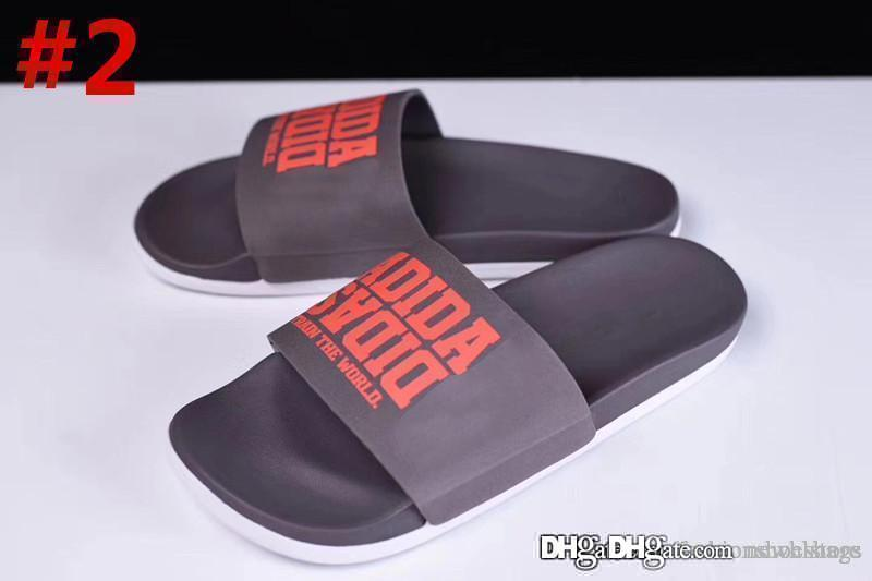 2213dc707298 2018 Top Quality Men S Adilette CF+ Mono Slide Sandals Casual Sports  Slippers With Original Box Boots Online Cowboy Boots For Women From  Newhlstore