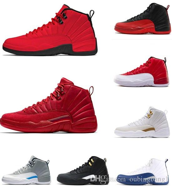 fbdc6f31e2d1 Gym Red Michigan 12 Men Basketball Shoes OVO White TAXI Flu Game ...