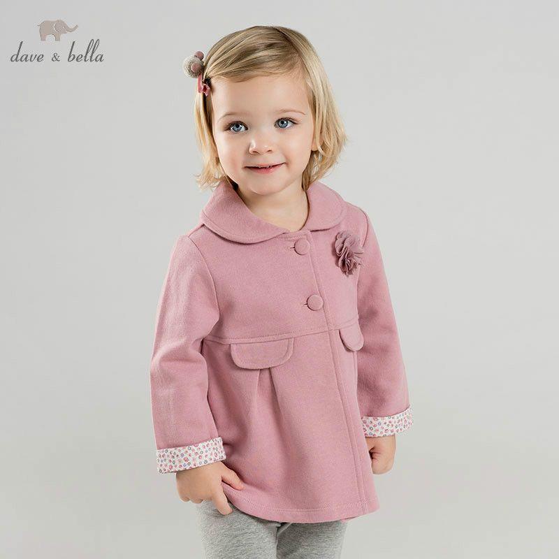 9e84c92fee58 DBM9441 Dave Bella Spring Baby Girl Jacket Children Fashion ...