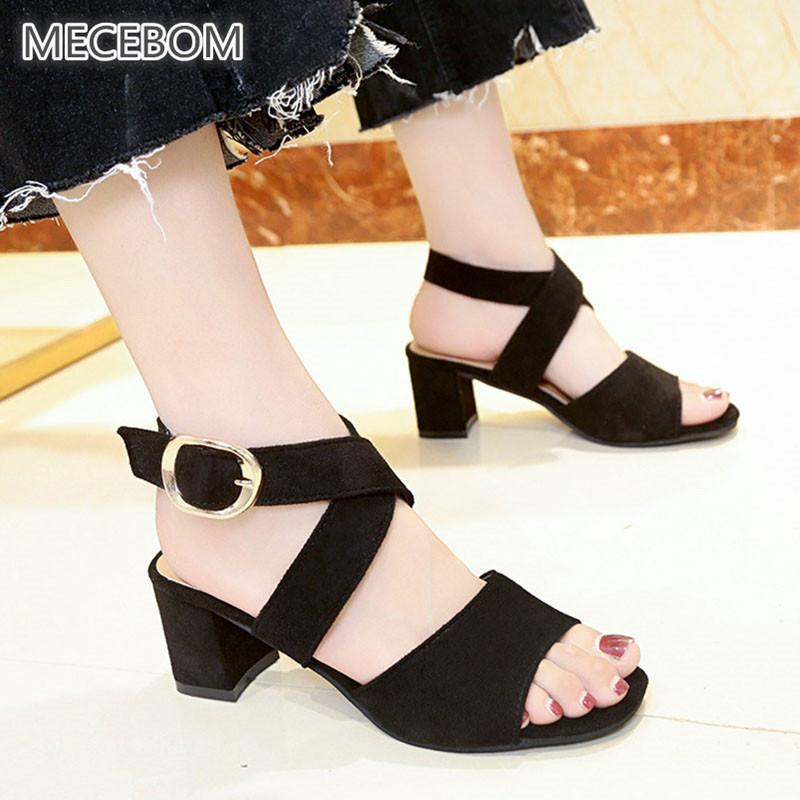 6b8482c933c6 Dress Shoes Spring Women Pumps Black Suede Fabric Slingback High Thick Heel Cross  Strap Open Toe Platform Sandals Ladies Wedding 0401w Shoes Uk Mens Chelsea  ...