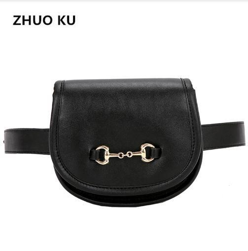 ZHUOKU Summer Candy Color PU Leather Women Waist Bags Female Waist Packs Ladies Shoulder Bags Trendy Design Chest 2018