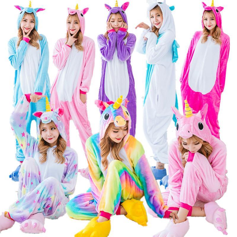 miglior fornitore abbastanza economico carino economico Pigiama unicorno caldo pigiama unisex animale casa costume anime cosplay  abbigliamento adulto pigiama pijama