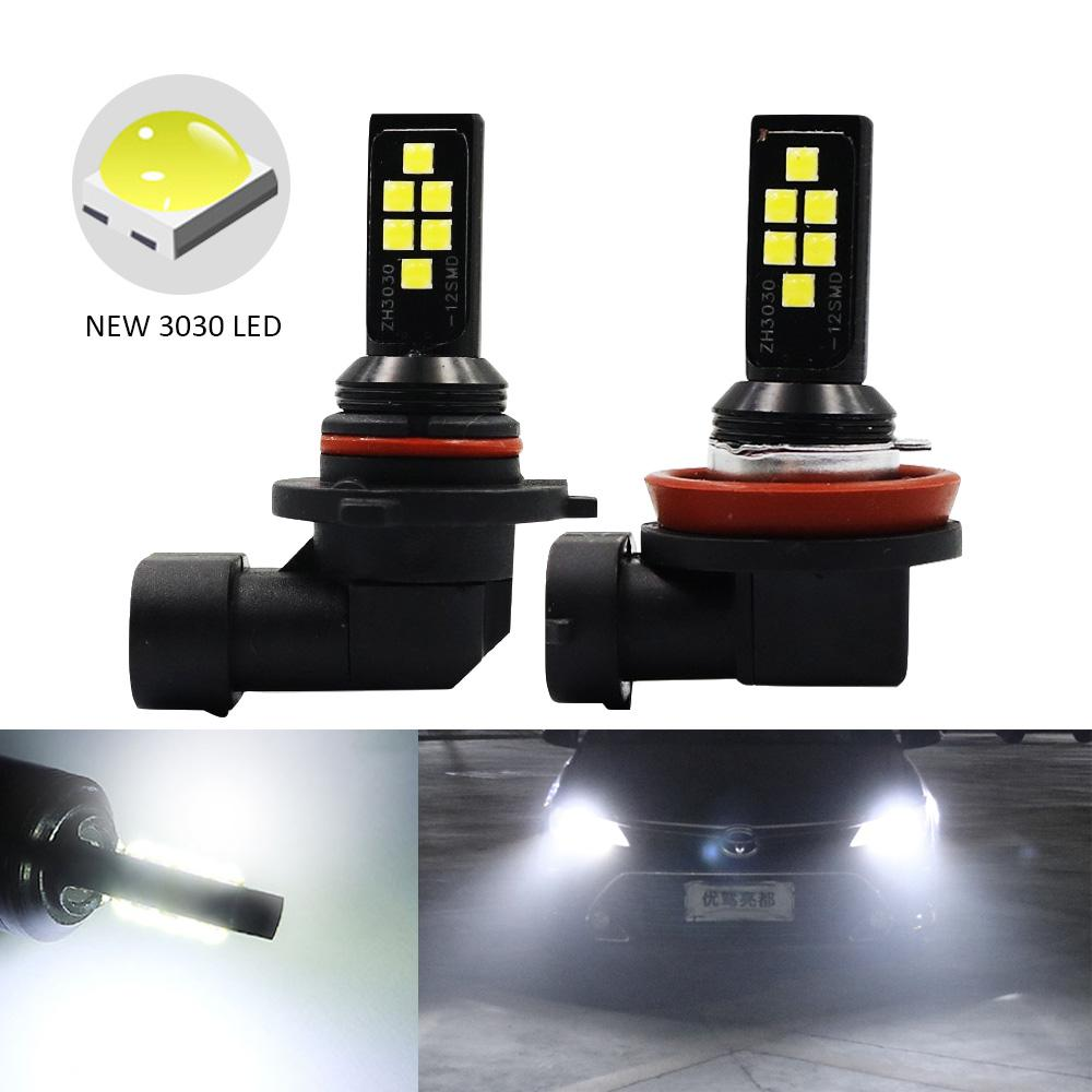 H11 h8 led nebelscheinwerfer 3030 led h1 h3 881 hb4 9006 hb3 9005 auto fahren lauflicht drl auto nebelscheinwerfer lampe weiß gelb rot