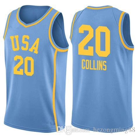 brand new d2556 b7fa7 #20 John Collins team usa Men's Embroidery Stitched Basketball Jersey  Custom any name and number