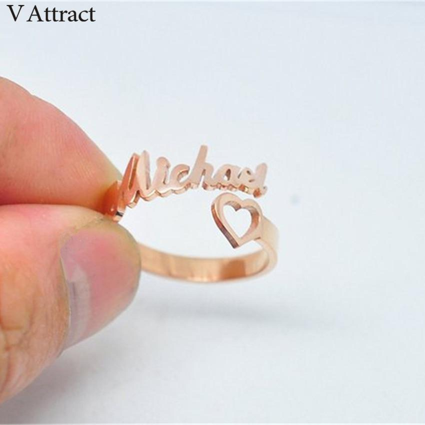 a4f37eb2cfc21 FREE Shipping Personalized Spiral Name Ring Alloy Ring silver