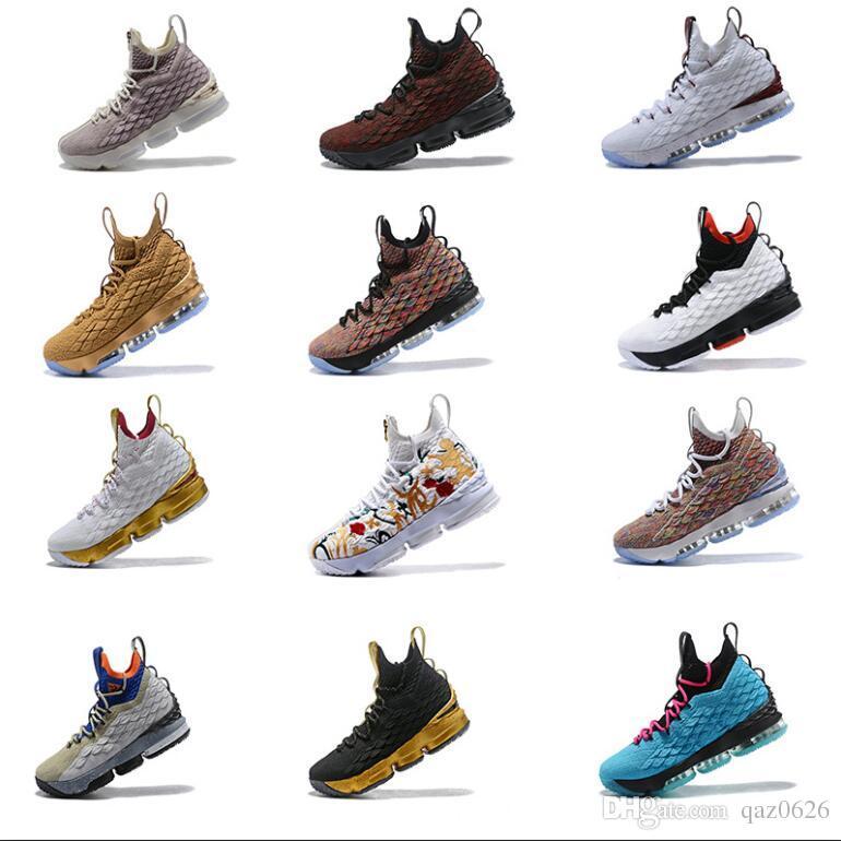 best sneakers 12c21 0f357 Großhandel 2019 Neue Designer Schuhe 15 Schwarz Weiß Mode Atmungsaktiv Basketball  Schuhe Für Männer 15 S Ep Sport Training Turnschuhe Größe 40 47 Von ...
