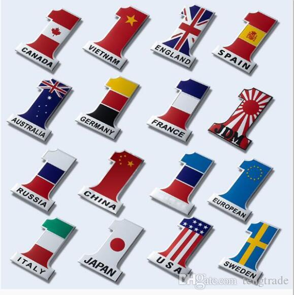 Car Decoration Sticker China UK USA Italy France Germany Australian Russian Vitenam Japan Flag Body Scratch Sticker Random Hot Sale Sticker