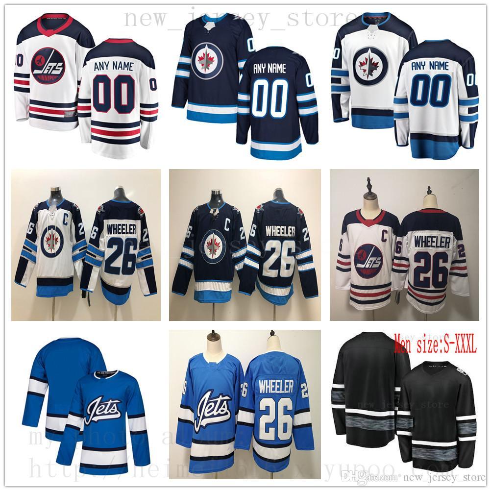 sports shoes a0b45 6771a Custom Winnipeg Jets Hockey Jersey 37 Connor Hellebuyck 82 Mason Appleton  30 Laurent Brossoit 7 Ben Chiarot 81 Kyle Connor Mens Women Youth