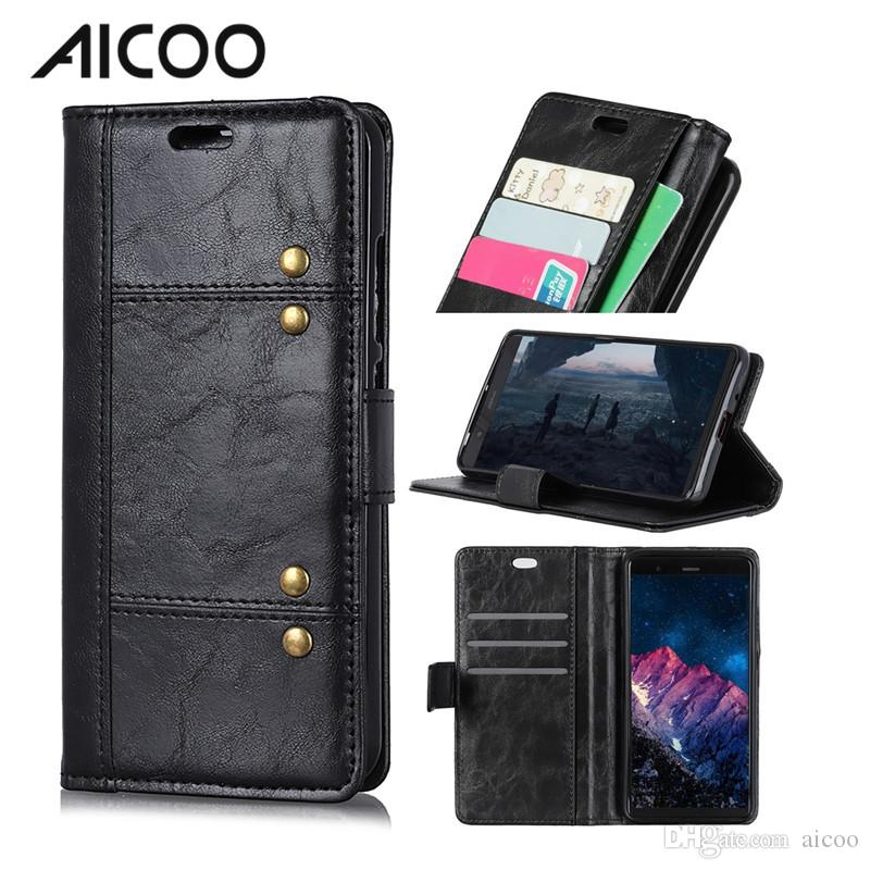 info for 03da0 6ab13 AICOO Wallet Phone Case with Kickstand TPU PU Hybrid Card Insertion  Horizontally Open Phone Case for iPhone Samsung S10 Plus Alcatel OPP
