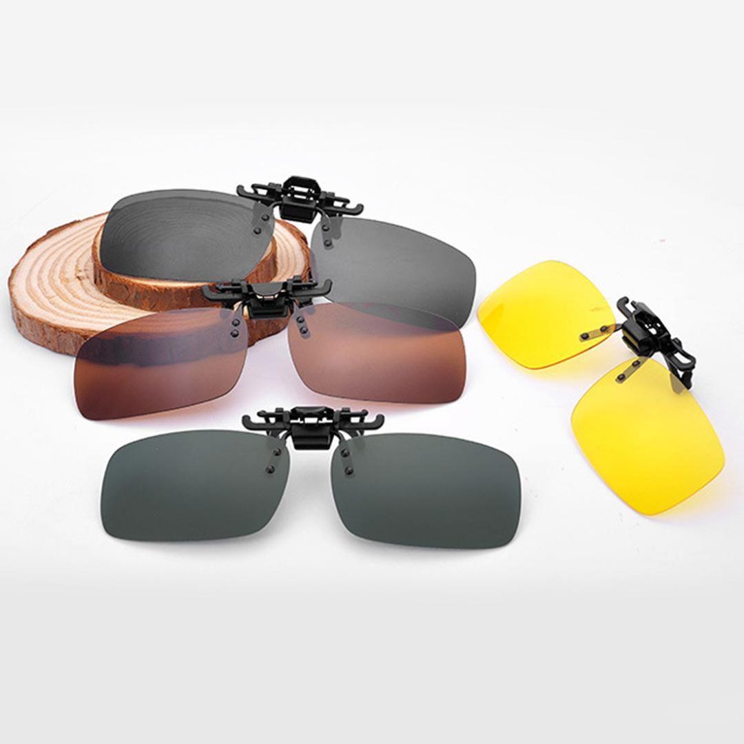 b1e0f196bb Compre Nuevo En Gafas De Sol Visión De Conducción Visión Nocturna Lente  Anti UVA Anti UVB Ciclismo Gafas De Sol Para Montar Clip Unisex Clip  Polarizado A ...