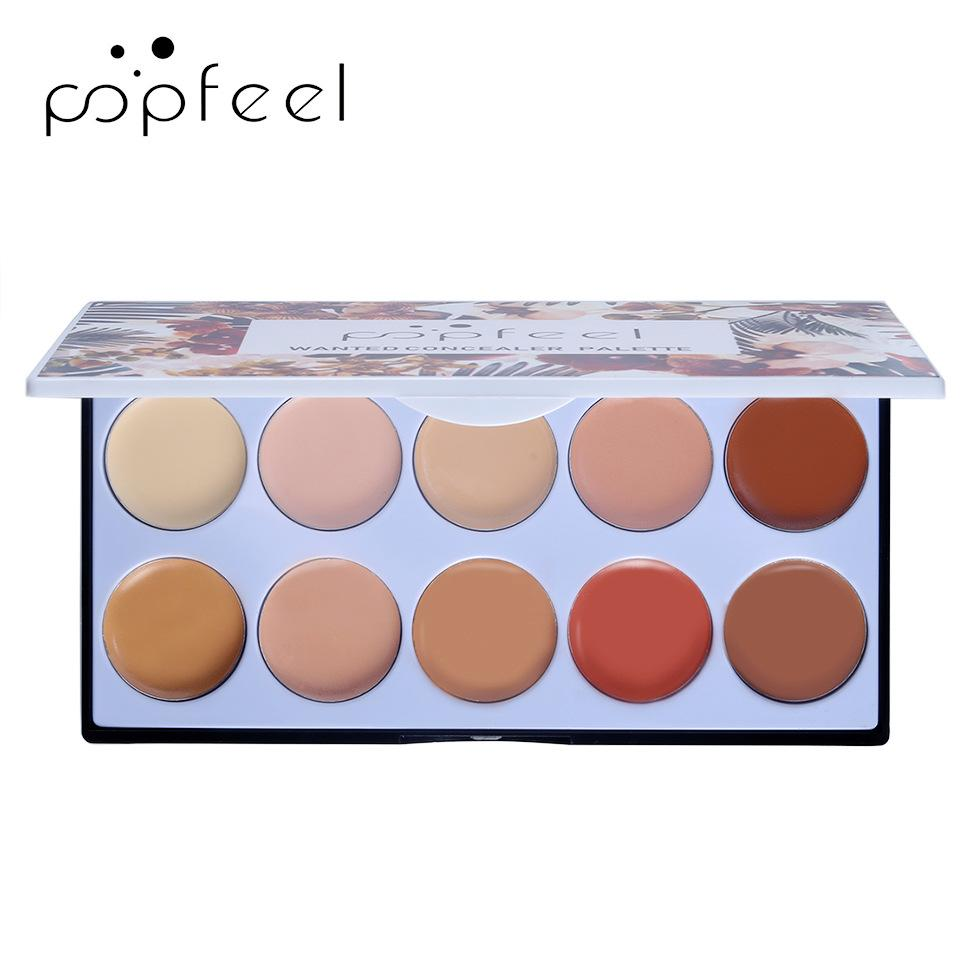 POPFEEL Newest 10 Colors Perfect Concealer Bright and Clean Solid Foundation Cream Modified Freckles Recover Pores Eye Wrinkles Melasma Scar