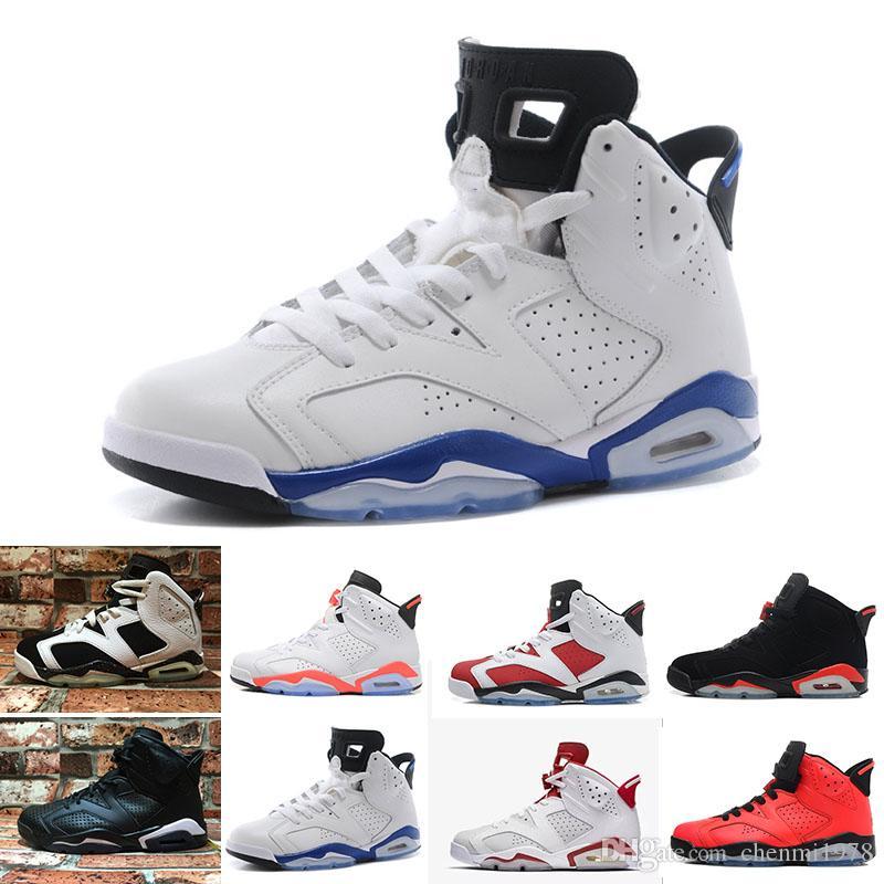 7013974ba08 Compre Nike Air Jordan 1 4 6 11 12 13 Retro Barato 6 Tênis De Basquete  Baixo Novo 2017 6 S Dos Homens S Mulheres Homem Real Mulheres Hombre Cesta  Tênis De ...