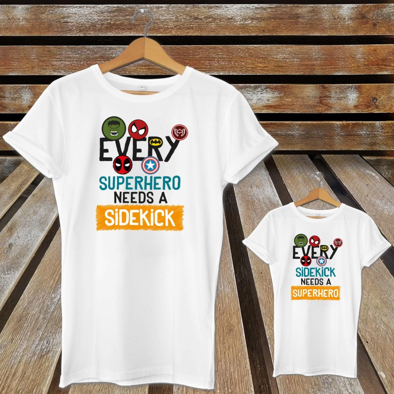 a672c654 Every Superhero Needs A Sidekick Matching Father's Day Dad And Son Cute T- Shirts Trump sweat sporter t-shirt