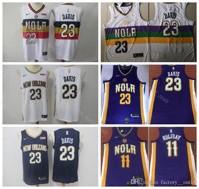 52faa4b1ab5 2019 2019 City Earned Edition Anthony 23 Davis Jersey Men New Orleans  Basketball Pelicans 11 Jrue Holiday Jerseys Navy Blue Purple White From  Vip_sport, ...