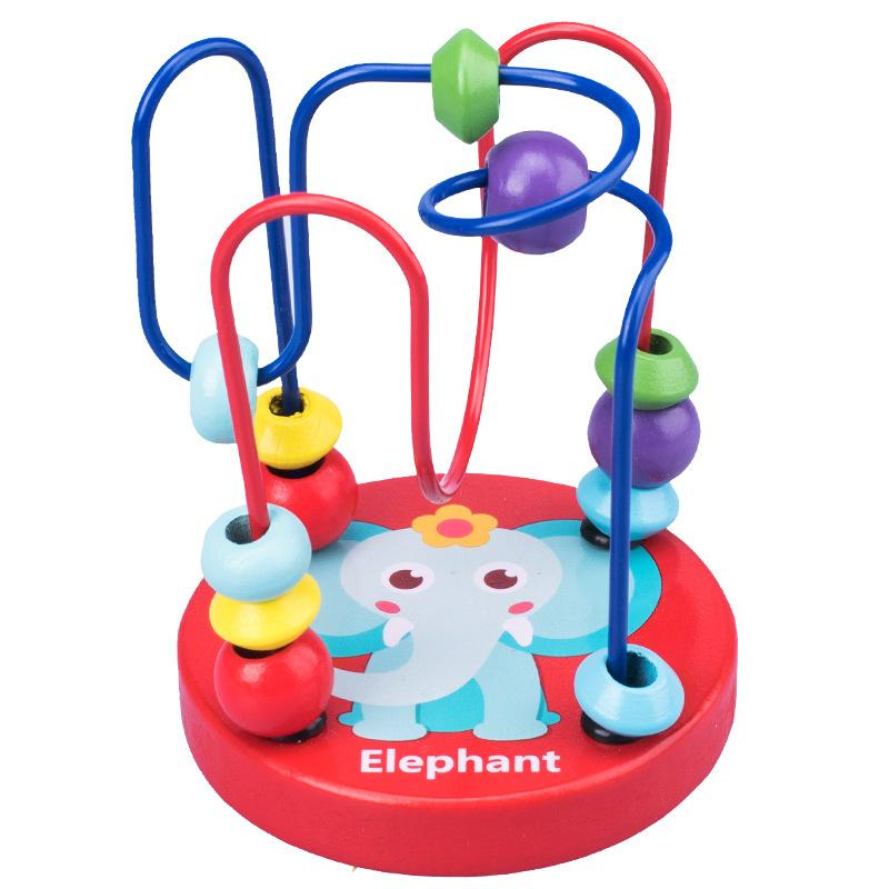 Xdz01 Wooden Toys With Mini Cartoon Beads 018 For Children Aged 1 4