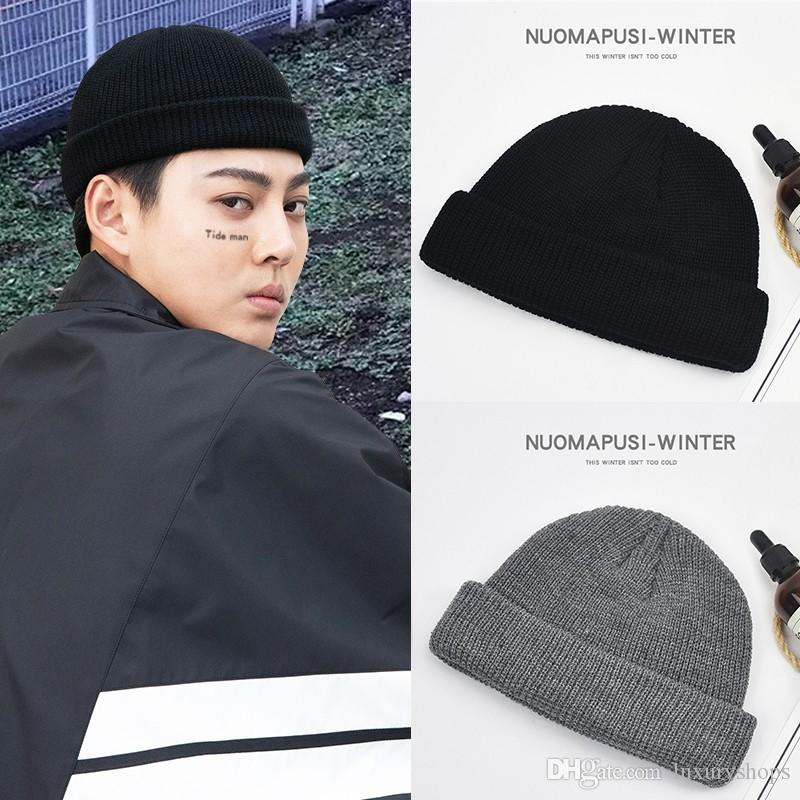 9340f4aab1b Hat Winter Melon Skin Hat Men Korean Version Knitted Wool Street Hooligans  Yapi Hip-hop Baotou Cold Hat Tide Online with  45.7 Piece on Luxuryshops s  Store ...