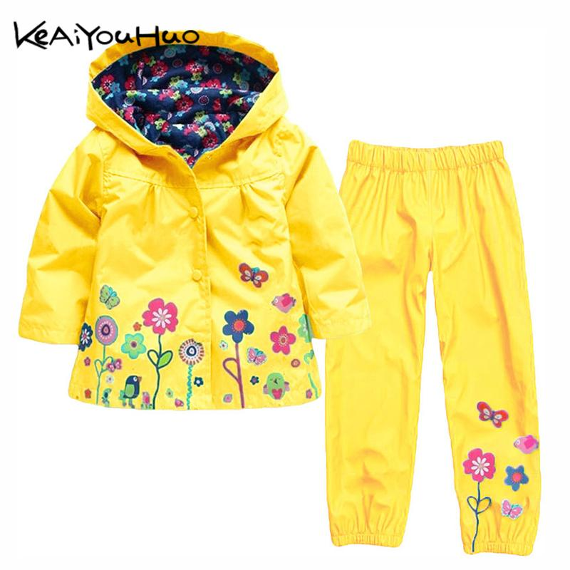 98faac58b KEAIYOUHUO Autumn Winter Kids Clothes Windbreak Waterproof Boys Sets  Raincoat Jackets+Pant Girls Sport Suit Children Clothing Winter Kids  Clothes Waterproof ...
