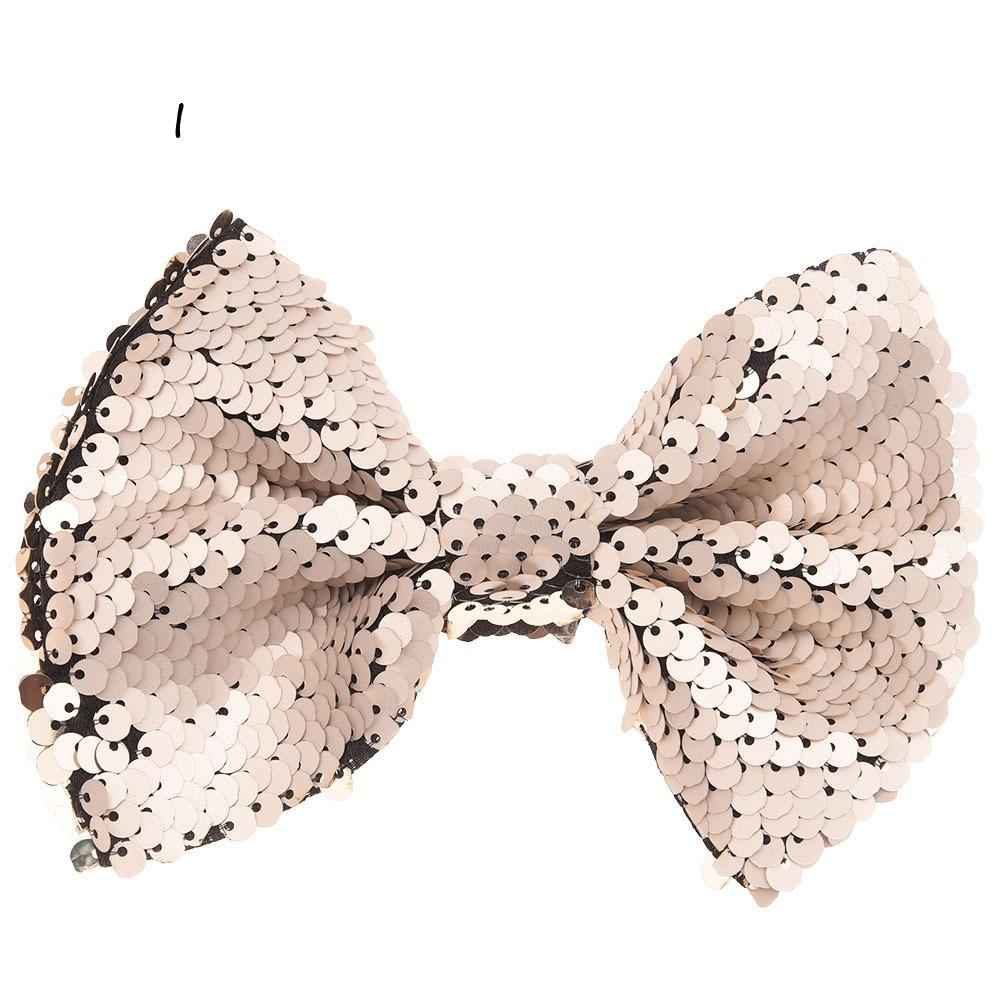 Sequin Embroidery Bowknot 9cm*12cm Bling Bows Glitter Bowknots Hair Accessories bow tie No Clip No Hair bows for Hairband