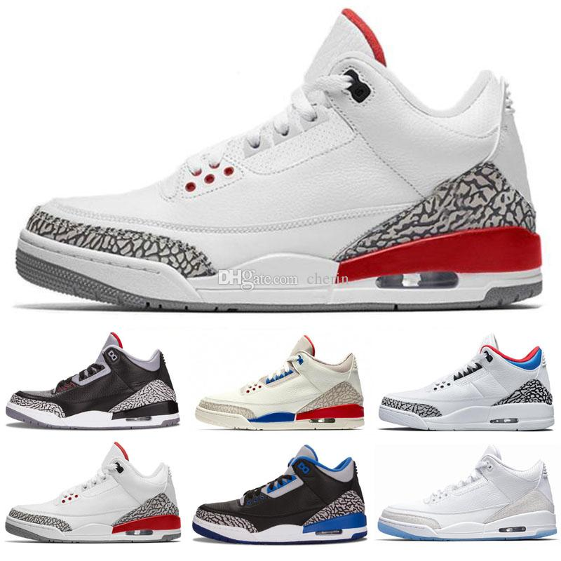 new concept 0dabd 7356e New Jumpman 3 III JTH NRG 3s Justin Timberlake Fire Red White Cement Mens  Basketball Shoes Sports Sneakers Man Shoes Size 7-13