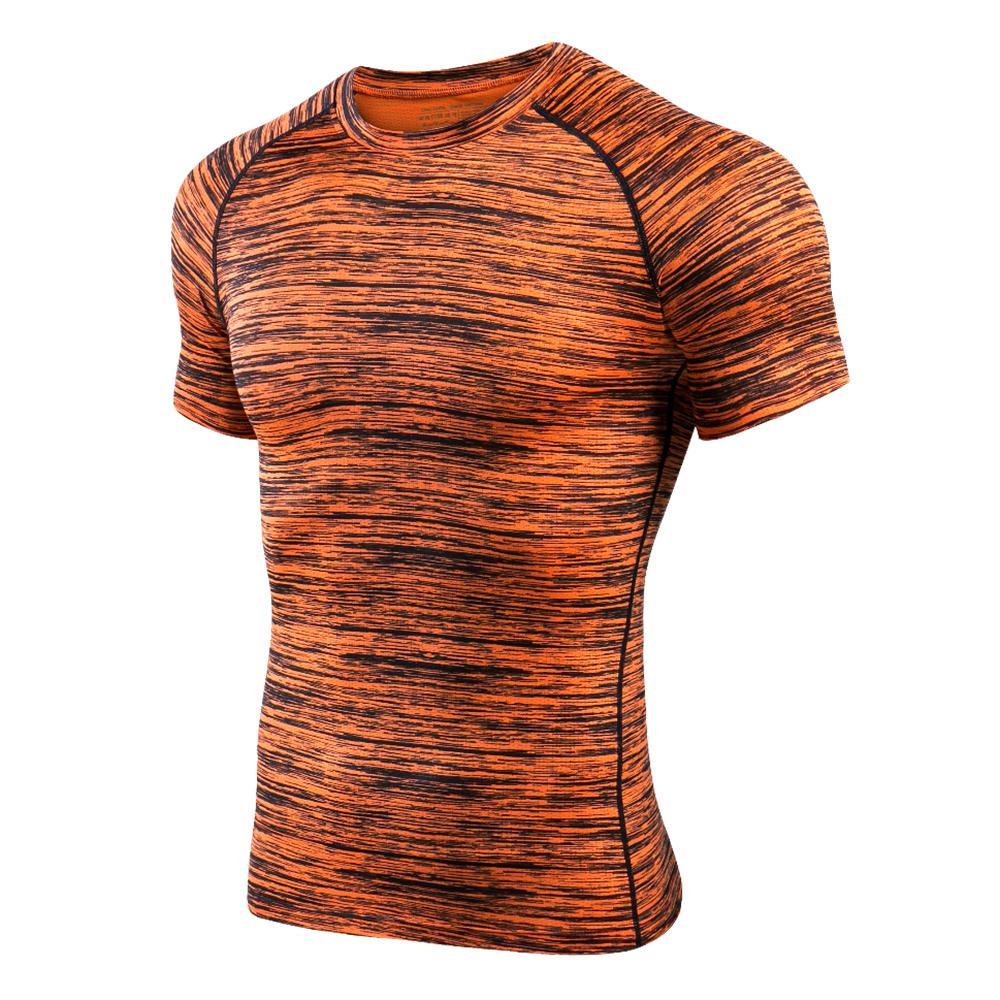 b40385d64 Compre Los Hombres De Manga Corta Camiseta De Compresión Atlética Camisa  Corriente De Baloncesto De Secado Rápido Camiseta De Entrenamiento Gimnasio  Ropa ...