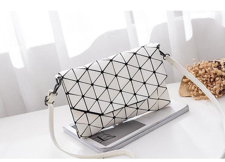 Matte Designer Women Evening Bag Shoulder Bags Girls Flap Handbag Fashion Geometric Casual Clutch Messenger Bag PP-1148