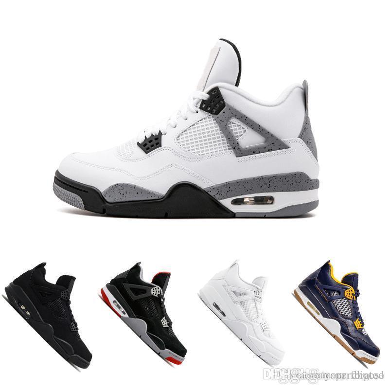 a711844535f 2018 4 4s Men Basketball Shoes Royalty Pure Money Premium Black Cat ...