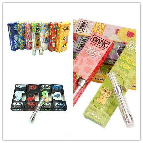 Cereal Carts G5 Empty Vape Pen Cartridges Black Packaging of Dank Vapes Dab  Wax Vaporizer 1ml Ceramic Coils Glass Thick Oil Cartridge