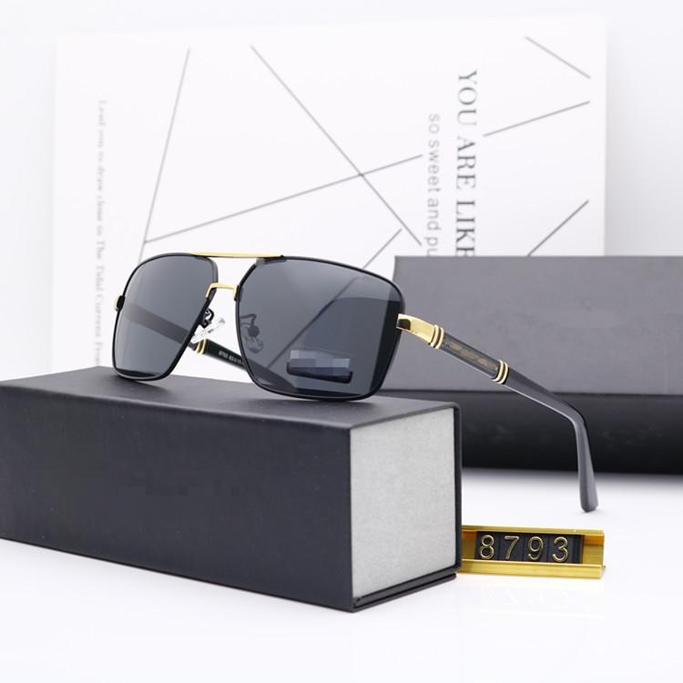 Men Women Sunglasses UV400 polarized Classic Aluminum Driving Pilot Glasses Box
