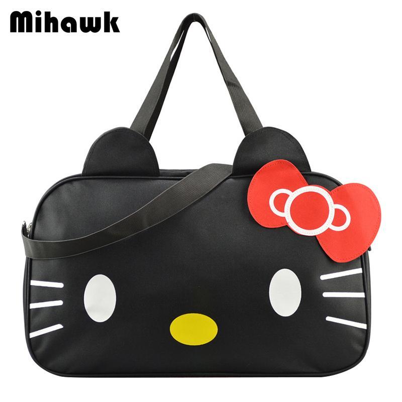 54ec329a0 Compre Mihawk Cute Hello Kitty Bolso De Mujer De Viaje Bolsas De Mensajero  De Doble Uso Organizador De Hombro Accesorios Suministros Productos  Y1892708 A ...