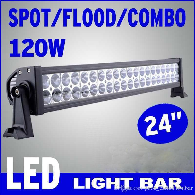 22inch 120W CREE LED Light Bar Spot Flood Combo Offroad 4WD Truck Boat SUV Ford