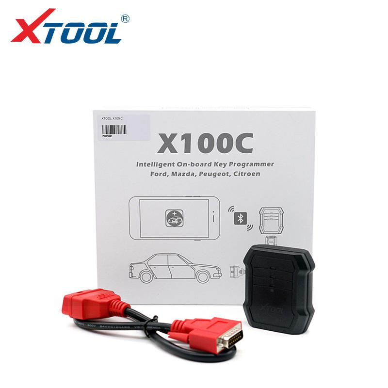 2019 Professional X100C Auto Key Programmer for Ford/Mazda/Peugeot/Citroen 4 in 1 pin code reader Xtool X100C for Android IOS