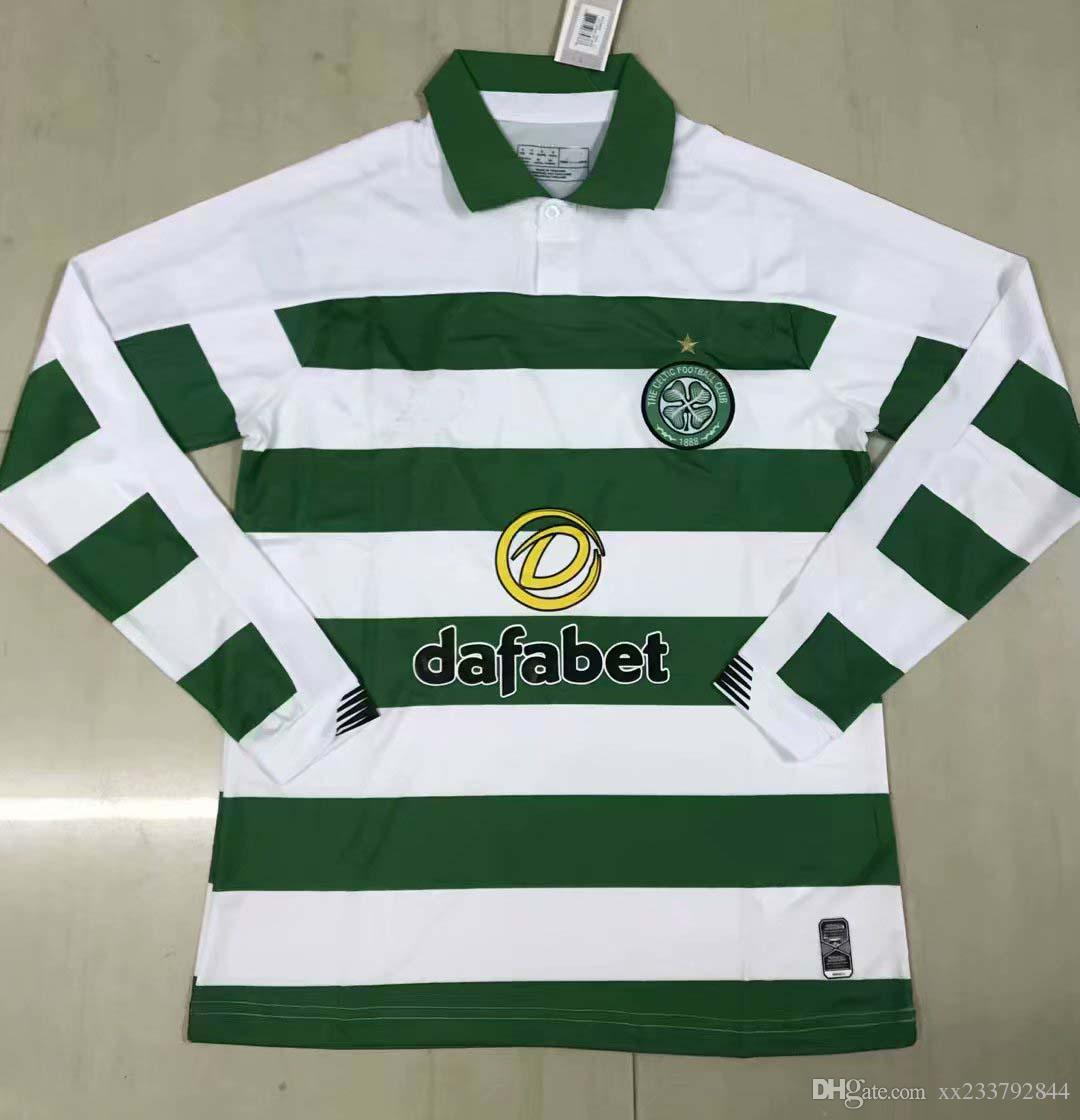 2019 2020 Celtic Camisetas de fútbol de manga larga GRIFFITHS BURNS BROWN 19 20 camiseta de fútbol S-2XL