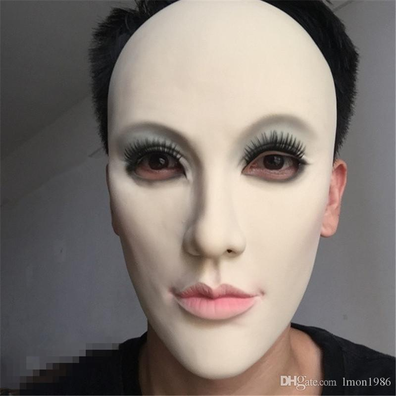 New!!!Realistic Female Mask For Halloween Human Female Masquerade Latex Party Mask Sexy Girl Crossdress Costume Cosplay Mask