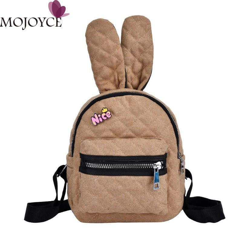 2019 Cute Rabbit Ears Mini Backpacks For Teenage Girl Preppy Style Fashion School  Bags Casual Women Travel School Knapsack Travel Backpack Cute Backpacks ... e743889ed7b30