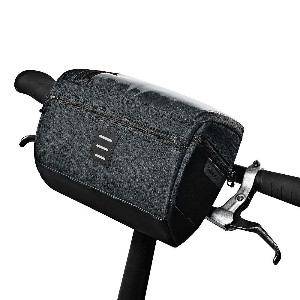 Capacidad 111459 Bicicleta Manillar Roswheel Cesta 3l Delantera Bolsa b67Yfgy
