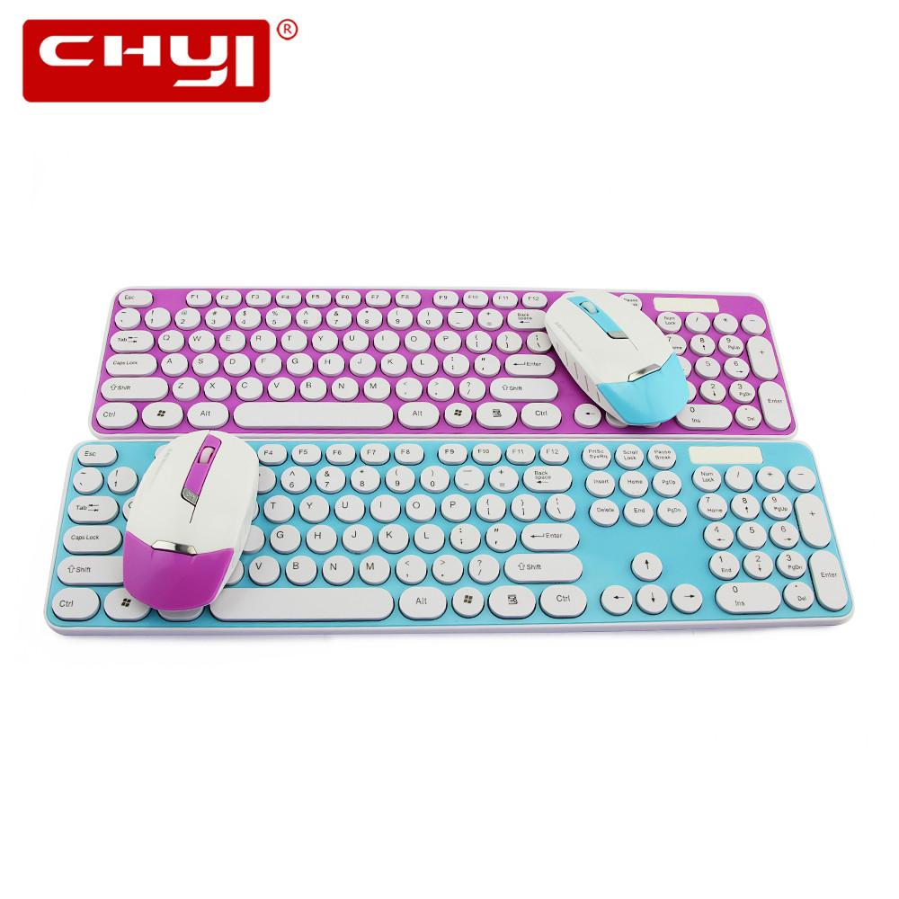 283c3fa640d Ultra Thin 2.4GHz Wireless Keyboard And Mouse Combo Chocolate Keycap Mouse  Set With Receiver For Kids PC Laptop Notebook Desktop Silent Keyboard  Silicone ...