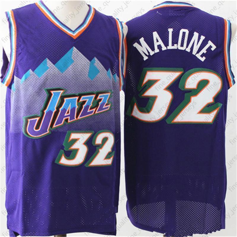 c90e0eda457 2019 12 John +Stockton Utah Jerseys 32 Karl +Malone Basketball + Donovan 45  Mitchell Rubio 3 Ricky 26 Korver Retro Kids Mens Game In Stock From ...