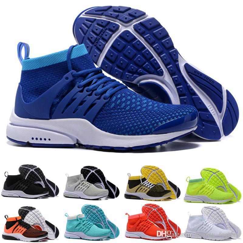 low priced 91ebd b33ec Acheter Nouveau Zapatos Chaussures De Course Presto Ultra Run Triple Noir  Blanc Jaune Chaussette Dart Pas Cher Femmes Hommes Baskets Chaussettes  Casual ...