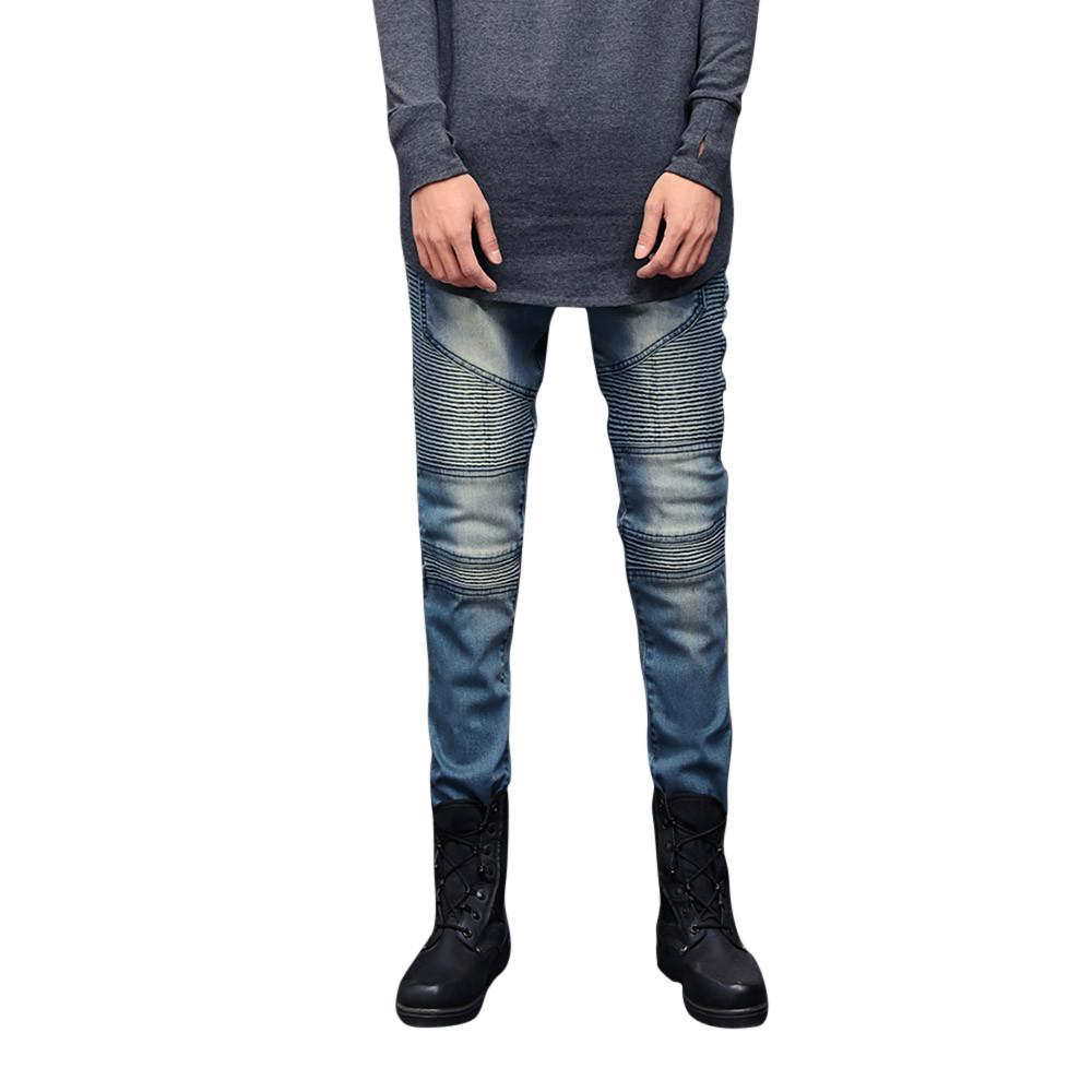 1329c78cfe 2019 New Fashion Mens Skinny Stretch Denim Pants Pleated Ripped Freyed Slim  Fit Jeans Trousers Moda Hombre 2019 Vaqueros Hombre 5 From Duixinju